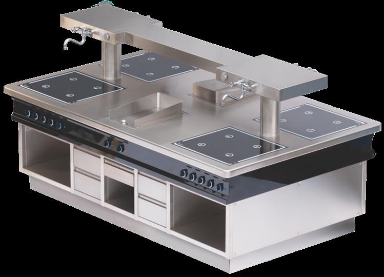 HAKA-Kochanlagen und Kochblöcke